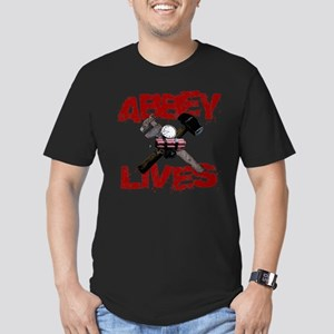 Abbey Lives! Men's Fitted T-Shirt (dark)