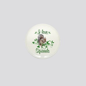 I Love Squirrels Mini Button