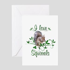 I Love Squirrels Greeting Card
