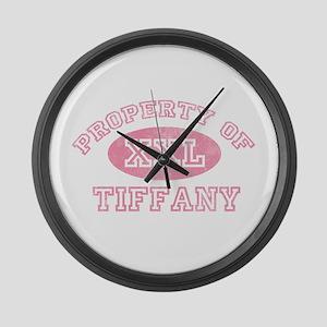 Property of Tiffany Large Wall Clock