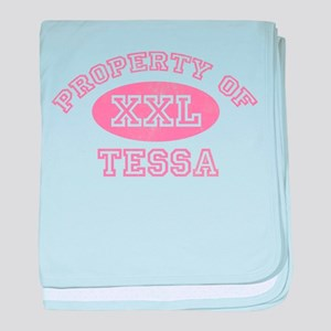 Property of Tessa baby blanket