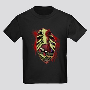 Zombie Chest Wound Kids Dark T-Shirt