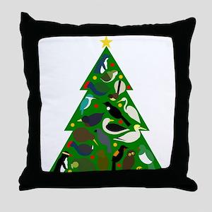 NZ Christmas Tree Throw Pillow