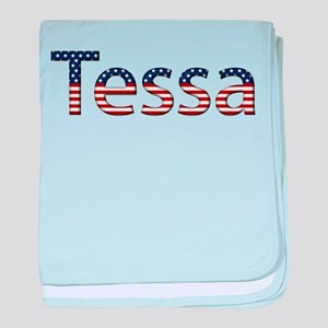 Tessa Stars and Stripes baby blanket