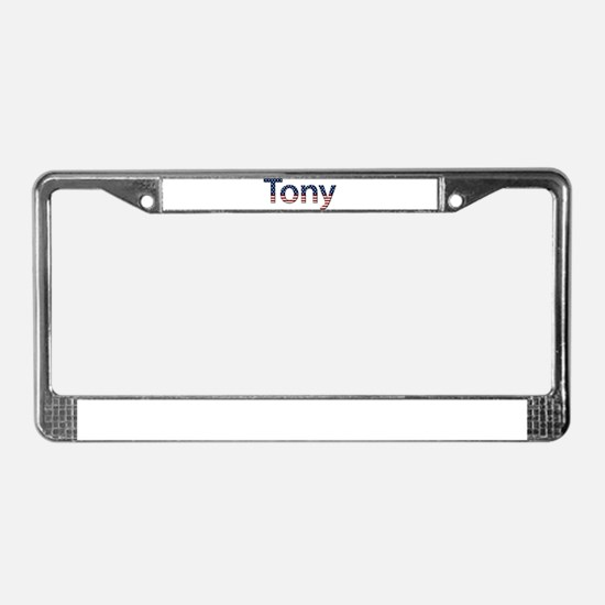 Tony Stars and Stripes License Plate Frame