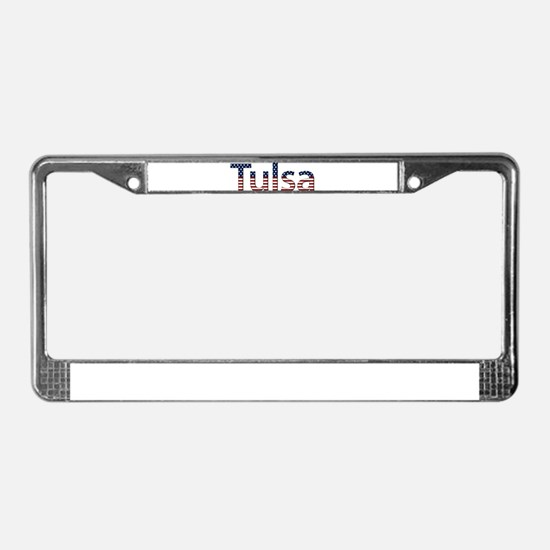 Tulsa Stars and Stripes License Plate Frame