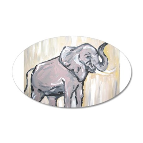 Elephant 38.5 x 24.5 Oval Wall Peel