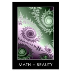 Large Fractal Canvas Art