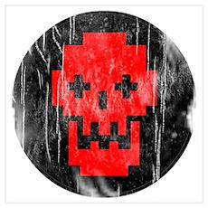Faded Punk Halloween Skull Poster
