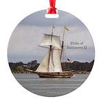 Pride Of Baltimore Ii Round Ornament