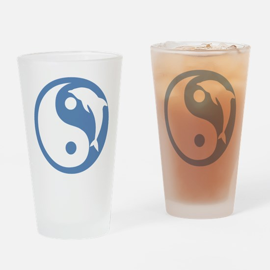 Dolphin Yin Yang Drinking Glass