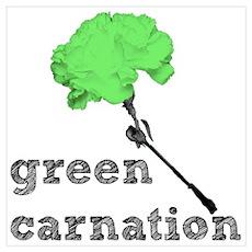 Green Carnation Poster