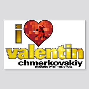 I Heart Valentin Chmerkovskiy Rectangle Sticker
