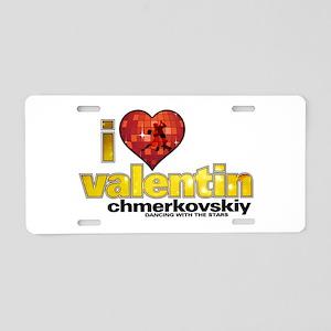 I Heart Valentin Chmerkovskiy Aluminum License Pla
