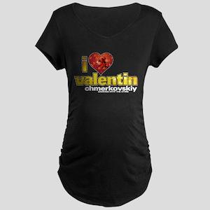 I Heart Valentin Chmerkovskiy Dark Maternity T-Shi