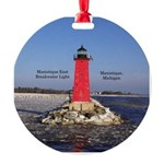Manistique East Breakwater Light Round Ornament
