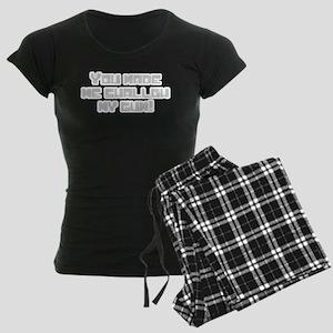 You made me swallow my gum! Women's Dark Pajamas