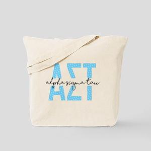 AlphaSigmaTau Polka Dot Tote Bag