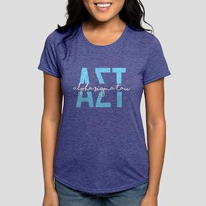 AlphaSigmaTau Polka Dot Womens Tri-blend T-Shirts