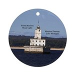 North Manitou Shoal Light Round Ornament