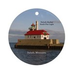 Duluth Harbor South Pier Light Round Ornament