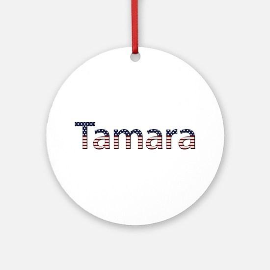 Tamara Stars and Stripes Round Ornament