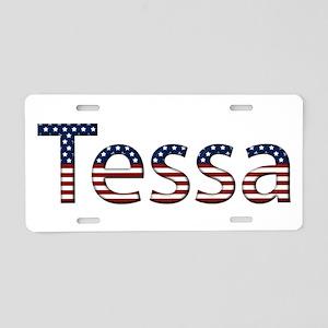 Tessa Stars and Stripes Aluminum License Plate