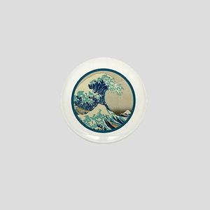 Kanagawa great wave Mini Button