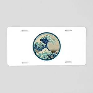Kanagawa great wave Aluminum License Plate