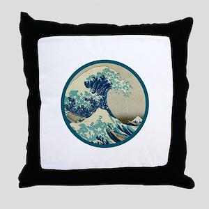 Kanagawa great wave Throw Pillow