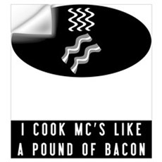 Cooked Like Bacon Wall Decal