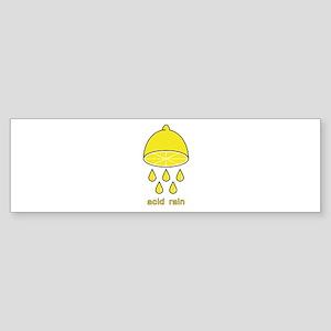 acid rain lemon Sticker (Bumper)