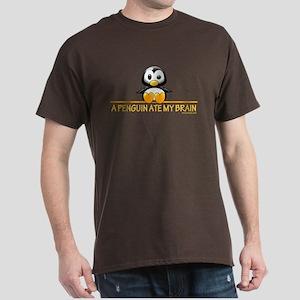 A Penguin Ate My Brain Dark T-Shirt