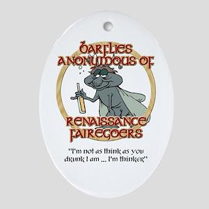 Barflies Oval Ornament