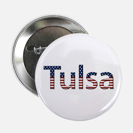 Tulsa Stars and Stripes Button