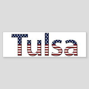 Tulsa Stars and Stripes Bumper Sticker