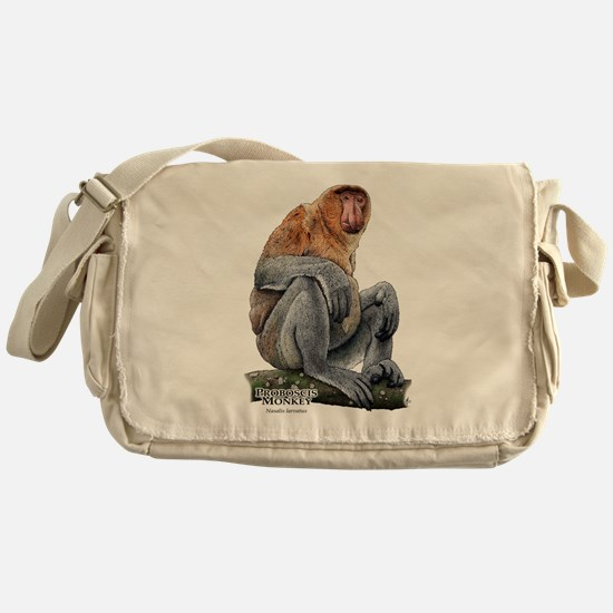 Proboscis Monkey Messenger Bag