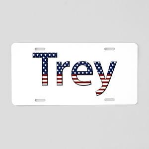 Trey Stars and Stripes Aluminum License Plate