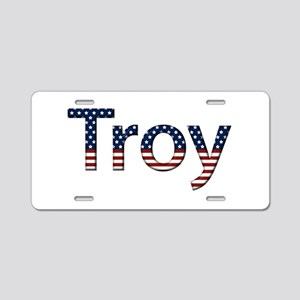 Troy Stars and Stripes Aluminum License Plate