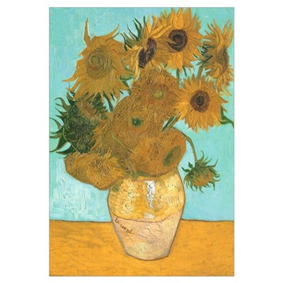 Van Gogh 12 Sunflowers Framed Print
