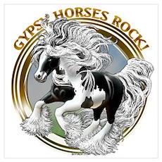 Gypsy Horses Rock Poster