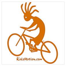 Kokopelli Mountain Biker Poster