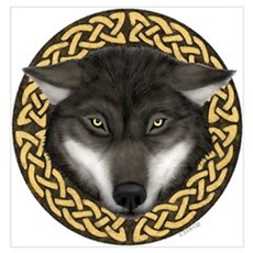Celtic Wolf Poster
