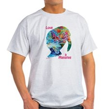 Manatees of Many Colors Light T-Shirt