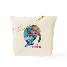 Manatees of Many Colors Tote Bag