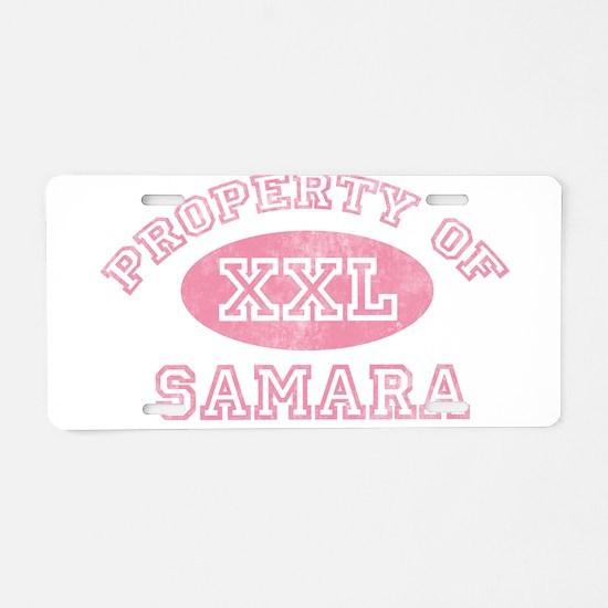 Property of Samara Aluminum License Plate