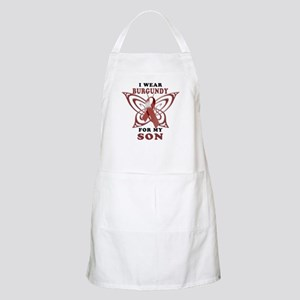 I Wear Burgundy for my Son Apron
