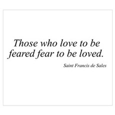 Saint Francis de Sales quote Framed Print