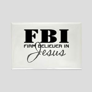 Firm Believer in Jesus Rectangle Magnet