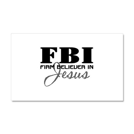 Firm Believer in Jesus Car Magnet 20 x 12